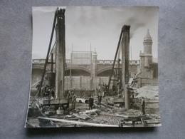 Antwerpen: Bouwwerken Synagoge 1925 (originele Foto) - Lieux