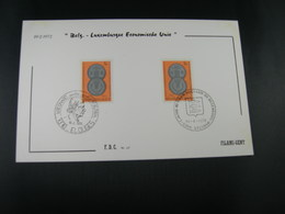 "BELG.1972 1616 FDC Filamicard ""Belgisch-Luxemburgse Unie  /Union Belgo-Luxembourgeoise "" - FDC"