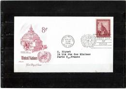 LBR26 - NATIONS UNIES FDC 14/4/1958 - New-York - Siège De L'ONU