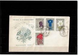 LBR26 - ROUMANIE FDC 22/6/1957 THEME FLORE - FDC
