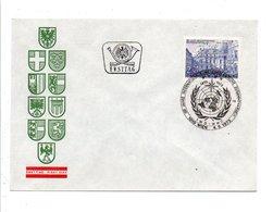 AUTRICHE FDC 1973 CENTENAIRE ORGANISATION METEOROLOGIQUE MONDIALE - FDC