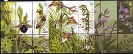 Ukraine 2015 Botanical Garden Orchids 3v + Labels MNH - Orchids