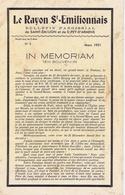GIRONDE - Le RAYON ST-EMILIONNAIS - Bulletin De LIBOURNE Et ST-PEY-d'ARMENS - Informations Générales