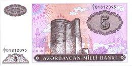 Azerbaijan 5 Manat 1993  Pick 15 UNC - Azerbaïjan