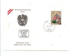 AUTRICHE FDC 1979 150 ANS BUREAU CENTRAL DES STATISTIQUES - FDC