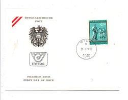 AUTRICHE FDC 1979 BICENTENAIRE EDUCATION DES SOURDS EN AUTRICHE - FDC