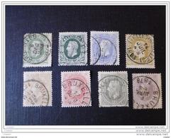 Belgique  1869  N° 30, 30 , 31 , 32, 33, 34 , 35 Et 36 Effigie Léopold II - 1869-1883 Léopold II