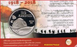 BELGIE - COINCARD 5 € 2018 BU - 100e VERJAARDAG EINDE W.O. I - Belgique