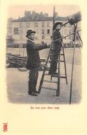 Paris Petits Métiers - Editions Kunzli, Légende Rouge - La Lune Pour Deux Sous - Astronome - Téléscope - Cecodi N'A 212 - France