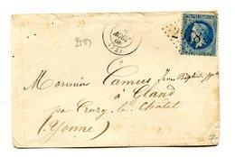 France - N°29 Sur Lettre De Nemours - Type De Fermeture Au Dos - 2 Scans - (B1285) - Marcophilie (Lettres)