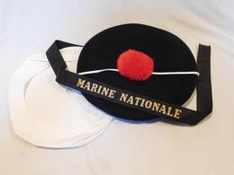 RARE BACHI MARINE NATIONALE - TOULON 1956 - Casques & Coiffures