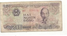 VIET-NAM . 2.000 DONG . 1988 . N° WC 3594170   . 2 SCANES - Viêt-Nam