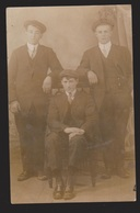 Photo Postcard Of 3 Young Men Circa 1900 - Unused - Photographs