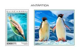 GUINEA BISSAU 2018 - Penguins, Antarctica S/S. Official Issue - Pinguïns & Vetganzen