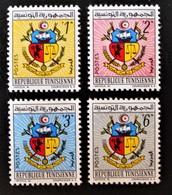 ARMOIRIES 1962 - NEUFS ** - YT 541/44 - MI 588/91 - Tunesië (1956-...)