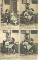 CPA -LOT DE 5 CARTES - ENFANTS JOUANT AU DENTISTE - SERIE COMPLETE - Cartes Humoristiques