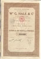 ACTION LOT 2 ACTIONS Sté Wm G.HALE & Cie à SAÏGON - COCHINCHINE - Asie