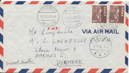Japan Air Mail Cover Sent To Denmark Nagoyaminato 1-9-1963 - Airmail