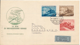 Czechoslovakia FDC 30-4-1952 Agriculture Complete Set Sent To Denmark - FDC
