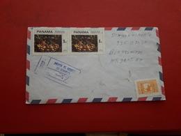 Le Panama Enveloppe Circulé Avec Timbres De Peintures Une Grande Quantité - Panama