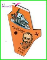 Magnet Le Gaulois Les Ville Du Monde N° 24 HAMBOURG Allemagne Johannes Brahms - Magnets