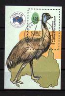 217b * CUBA BLOCK * EMU * GESTEMPELT ** !! - Autruches