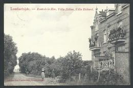+++ CPA - LOMBARTZIJDE - LOMBARTZYDE - Route De La Mer - Villa Hélène - Villa Richard   // - Middelkerke