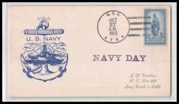 431f USA 1952 Us Navy USS Atka (AGB-3) Lettre Navale (Naval Cover Schiffspost) (bateau Ship) - Estados Unidos