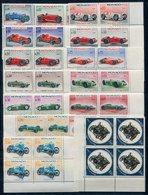 RC 10725 MONACO N° 708 / 721 + PA 91 AUTOMOBILES GRAND PRIX DE MONACO 1967 BLOCS DE 4 NEUF ** TB - Cars