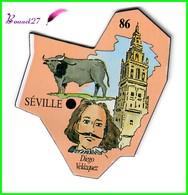 Magnet Le Gaulois Les Ville Du Monde N° 86 SEVILLE Espagne Diego Velasquez - Magnets