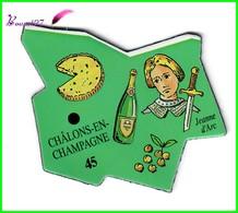Magnet Le Gaulois Les Ville Du Monde N° 45 CHALONS EN CHAMPAGNE France Jeanne D'Arc - Magnets
