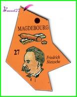 Magnet Le Gaulois Les Ville Du Monde N° 72 MAGDEBOURG Allemagne Friedricj Nietzsche - Magnets