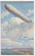 AK Reichsmarineluftschiff - Wacht An Dt. Ostseeküste - Künstlerkarte Schulze - Luftflotten-Verein - Feldpost 1916(38204) - Guerre 1914-18