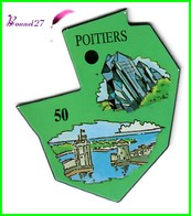 Magnet Le Gaulois Les Ville Du Monde N° 50 POITIERS France Futuroscope - Magnets