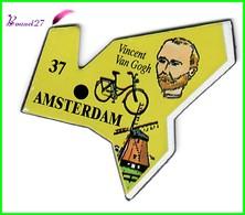Magnet Le Gaulois Les Ville Du Monde N° 37 AMSTERDAM Pays Bas Hollande Vincent Van Gogh - Magnets