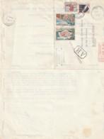 France Courrier Recommandé - Timbrée  1964 - Sur Facture Grands Travaux De Marseille - Francia