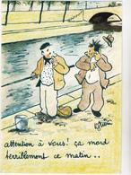 GUERIN Raoul   Ed Vaysse   - Humour  Peche  -   CPSM  10,5x15   TBE 1966 Neuve - Autres Illustrateurs