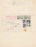 France Courrier Recommandé - Timbrée  1967 - Sur Facture  Entreprise Fayat Libourne - Francia