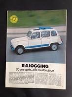Renault R4 Jogging-Article De Presse 1981 - Voitures