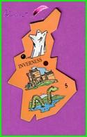 Magnet Le Gaulois Les Ville Du Monde N° 5 INVERNESS Ecosse Le Monstre Du Loch Ness - Magnets