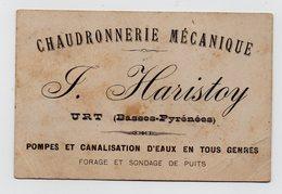 CARTE DE VISITE - PUBLICITE - 64 - URT - CHAUDRONNERIE MECANIQUE - HARISTOY - Cartes De Visite