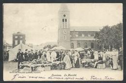 +++ CPA - TAMINES - Le Marché - Carte Animée ! - 1903   // - Sambreville