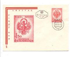 AUTRICHE FDC 1959 700 ANS RESISTANCE DU TYROL - FDC