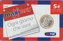 Télécarte Prépayée °° Italie - Tim  Maxiday - 5 € - Ogni Giorno - RV - Italie
