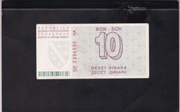 BOSNIA 10 DINARA 1992 (51) - Bosnia And Herzegovina
