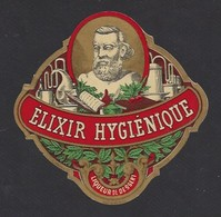 Etiquette D'Elixir Hygiénique  -  Fin XIX éme Début XX éme - Etiquettes