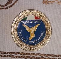 Distintivo Pendif Polizia Agente Polizia Ferroviaria - Italian Police  Enameled Insignia - Usato - Used - Obsolete - Polizia