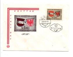 AUTRICHE FDC 1959 600 ANS INTEGRATION DU TYROL - FDC