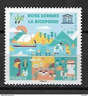 Frankreich 2018**, Dienst Unesco, Mensch + Biosphäre, Kaktus  / France 2018, MNH, Service Unesco, Human + Biosphere - Sukkulenten
