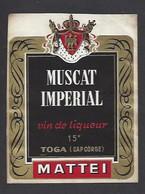 Etiquette De Muscat Impérial  -  Vin De Liqueur  -  Mattei à Toga  (Cap Corse)  (20) - Etiquettes